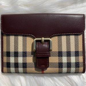 Burberry Haymarket Check Canvas Continental Wallet
